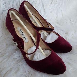 Merlot Velvet Heels